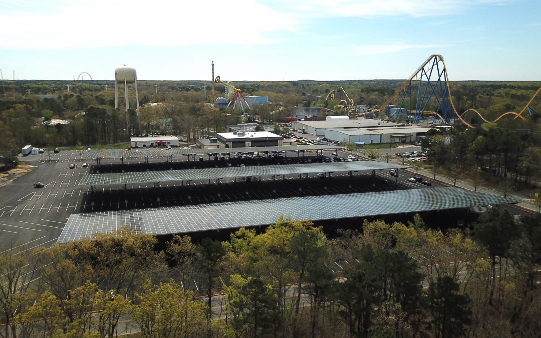 Six Flags Great Adventure Now Powered by Solar Energy